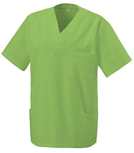 Schlupfkasack Kasack Schlupfjacke Schlupfhemd für Medizin und Pflege OP-Kleidung Lemongreen Gr. L