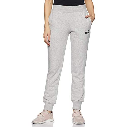 PUMA Ess TR Cl, Pantaloni Donna, Grigio (Light Grey Heather), XS