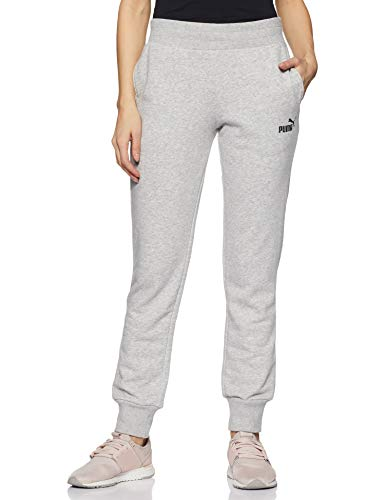 PUMA Damen Hose ESS Sweat Pants TR cl, Light Gray Heather, S, 851826