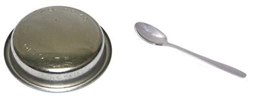 TAMLED zestaw filtrów ślepych Inox Rancilio do czyszczenia zaparzania ekspresu do kawy + łyżeczka do espresso
