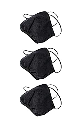 Los Angeles Apparel 3 Pack Fashion Black Mask [Same Day Shipping] [Made in USA]