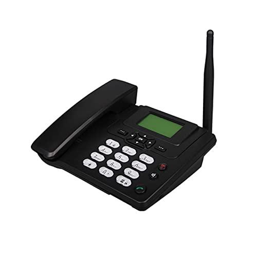 AMZYY Teléfono de Escritorio Clásico Teléfono Inalámbrico Avanzado para Llamadas a Domicilio Teléfono de Cuatro Bandas gsm para Negocios o Familia