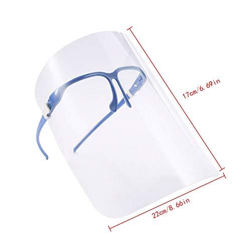 Pantalla Facial de Seguridad, Pantalla Completa de Seguridad contra Salpicaduras, Pantalla Universal Universal Reutilizable,Color Aleatorio.