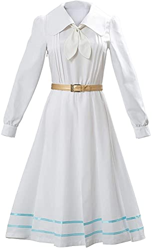 YBINGA Disfraz de cosplay para mujer, vestido de cosplay para adultos, uniformes escolares japoneses, lindos conejos, disfraz de marinero, accesorios de cosplay (color blanco, tamaño: XS)
