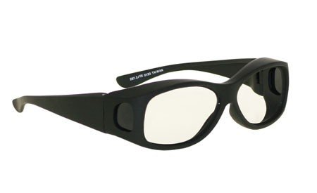 Radiation Safety Glasses - Fitovers In Large Plastic Black Safety Frame With Permanent Side Shields