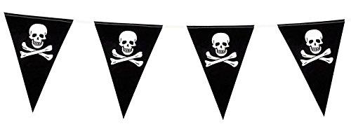 FIN DE VIE Guirlande de fanions pirate