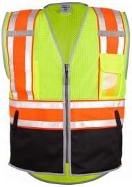ML Kishigo 1543 Brilliant Series Ultimate Black Bottom Safety Vest - Yellow/Lime 4XLarge (3 Units)