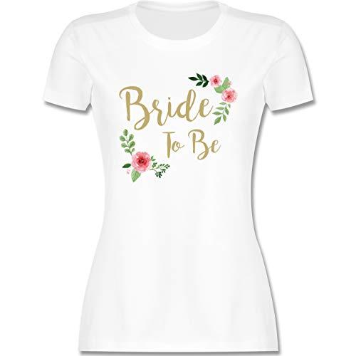 JGA Junggesellenabschied Frauen - Bride to Be - L - Weiß - The Bride Shirt - L191 - Tailliertes Tshirt für Damen und Frauen T-Shirt
