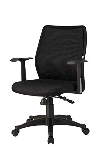 Nilkamal Blaze Mid Back Chair, Black