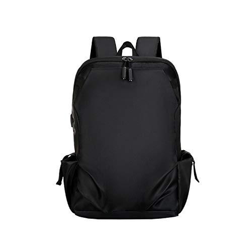 Bolsa de ordenador para estudiantes, mochila de gran capacidad, viajes, ocio, escuela, carga USB, color negro