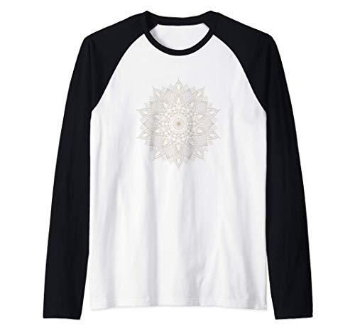 Mandala Yoga Meditación Entrenamiento para el yo interior Camiseta Manga Raglan