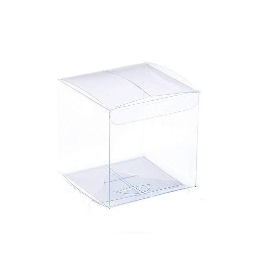 TOPTOMMY クリスタルボックス クリアケース クリアボックス ギフトケース ギフト箱 透明ケース 収納 ディスプレイケース 陳列ケース 7x7x7cm 50枚