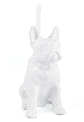 Gelco Design Dog Toilettenbürstenhalter WC Hund, Keramik, weiß, 15x 20x 29cm
