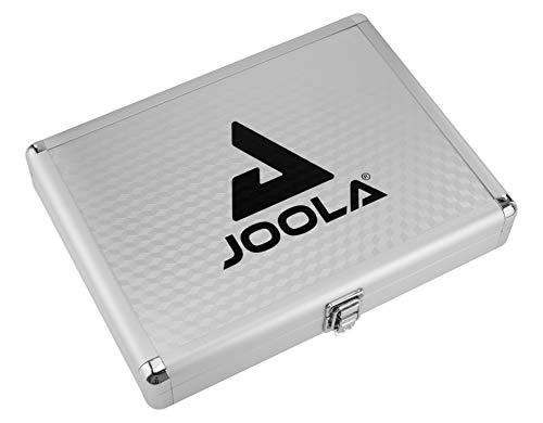 JOOLA Tischtennishülle Tischtennis-Hülle Alukoffer Schaumstoff-Inlay passend für 1 Tischtennisschläger und 3 Tischtennisbälle, Silber, 30 x 22 x 5 CM