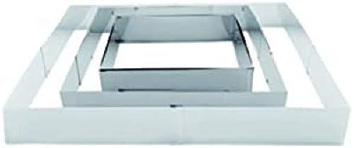 Ibili 790600 Moule rectangulaire extensible Inox (20x24..38x46 cm)