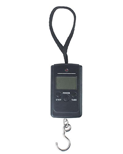 Digital Hanging/Fishing/Luggage Scale with Measuring Tape 88LB