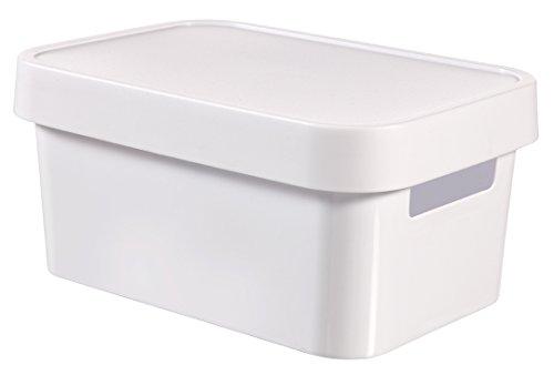 CURVER 04746-N23-00 Boîte à Rangement Infinity avec Couvercle 4,5L en Blanc, Plastique, 26,8x18,6x12,4 cm