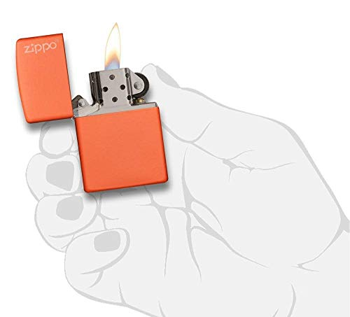 Product Image 1: Zippo 231ZL Orange Matte Logo Pocket Lighter