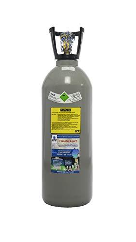 10 kg Kohlensäure Flasche/Neue CO2 Flasche/Gasflasche (Eigentumsflasche) gefüllt mit Kohlensäure (CO2) Lebensmittelqualität E290 / Thekenversion/ 10 Jahre TÜV ab Herstelldatum/made in EU