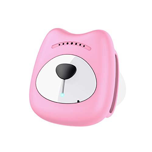 ZUOQUAN GPS Tracker, GPS Tracker Für Hunde - Leichter Und Wasserfester Peilsender, Haustier Hund Katze Kleintier,Pink