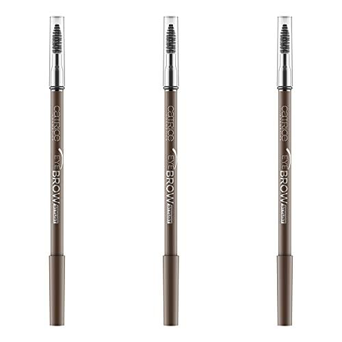 Catrice Eye Brow Stylist, Eye Pencil, Augenbrauenstift, Nr. 040 Don\'t Let Me Brow\'n, braun, langanhaltend, matt, Mikroplastik Partikel frei, Nanopartikel frei, ohne Parfüm, 3er Pack (3 x 1,4g)