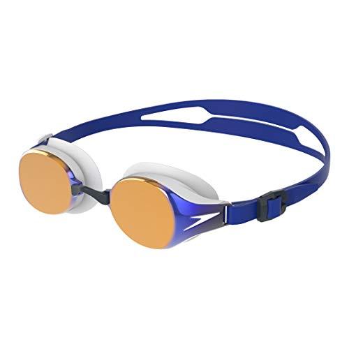 Speedo Unisex-Erwachsene Hydropure Mirror Goggle Swimming Schwimmbrille, Blau, Einheitsgröße