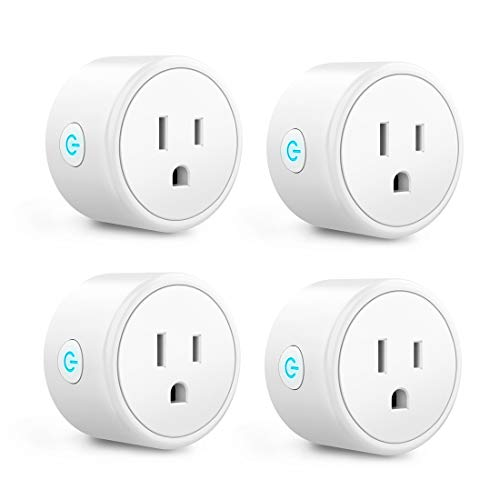 Smart Plug - Aoycocr Mini WIFI Switch Works With Alexa, Google Home & IFTTT, Remote Control Outlet with Timer Function, ETL/FCC/Rohs Listed Socket, White(4 Pack)