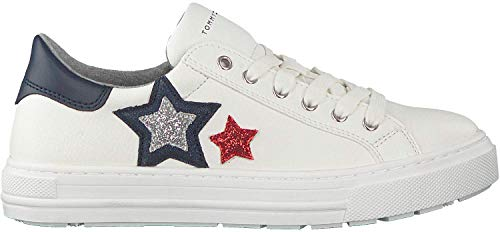 Tommy Hilfiger - Zapatillas infantiles, color Blanco, talla 33 EU