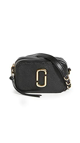 Marc Jacobs Bolso con bandolera The Softshot 17 de piel negra