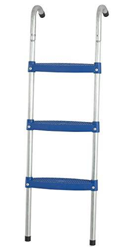 Escalera de 107 cm con 3 Peldaños Azules de 7.6 cm para Trampolín Cama Elástica de Jardín