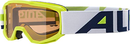 ALPINA PINEY Skibrille, Kinder, lime, one size