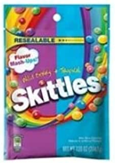 Skittles Flavor Mash Ups Wild Berry and Tropical Candy, 7.2 Ounce -- 12 per case.