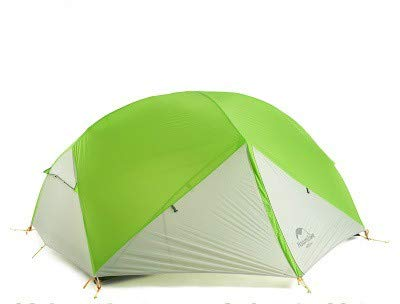 Mdsfe Naturehike Mongar 2 Tent, 2 Person Camping Tent Outdoor Ultralight 2 Man Camping Tent With Vestibule - 20D Green And Gray