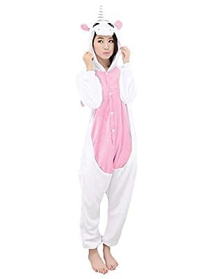 Disfrace Unicornio Pijama Animal Cosplay Unisex Franella Una Pieza per Halloween Carnaval Navidad Fiesta