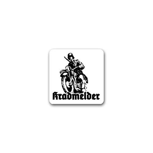 Kradmelder Deko Soldat Motorrad R75 KS750 Oldtimer Wandtattoo 64x54cm A555