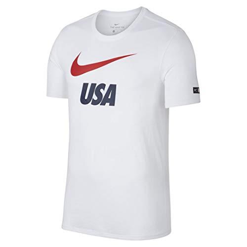 Nike Herren Team USA Soccer Dri Fit Wold Cup T-Shirt, kurzärmlig, Größe M, Weiß