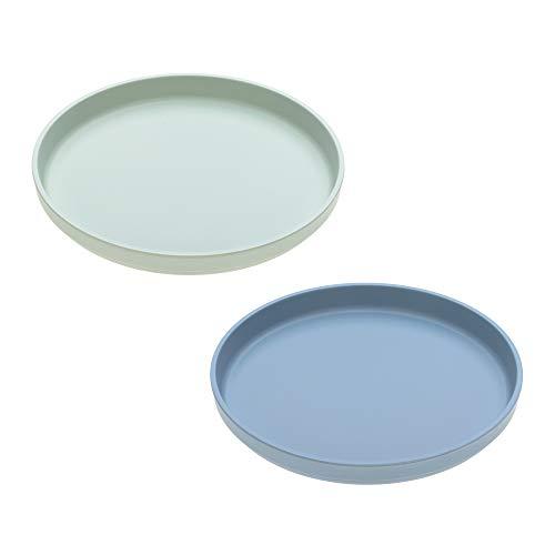 LÄSSIG Kinderteller 2er Set Uni Plate Set mint/blaubeere