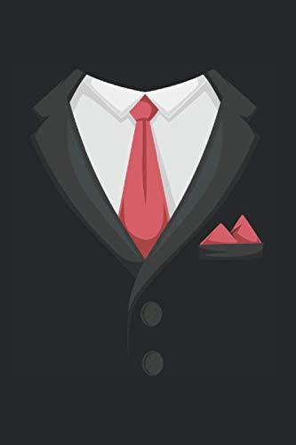 Traje de fumar Tie Cuaderno: caballeros Cuaderno de notas A5 cuaderno punteado Organizador Bloc de notas hombres Bloque de escritura Regalo chicos cuadernillo a cuadros