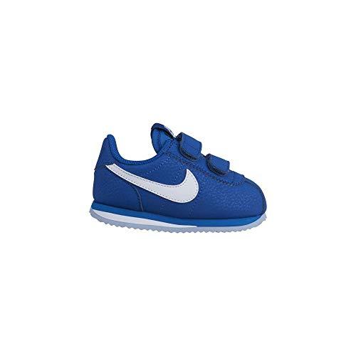 Nike Cortez Basic SL (TDV), Scarpe da Atletica Leggera Unisex-Bambini, Multicolore (Indigo Force/White/Obsidian Mist 402), 25 EU