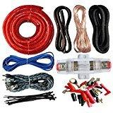 American Terminal 4 Gauge Power Wire Amp Kit 1000 Watt Red