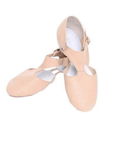 Zapatos de Baile para Mujeres - Zapatillas de Tacón Jazz Latino Deportivo Tango Tap Salsa (Rosa,37.5 EU)