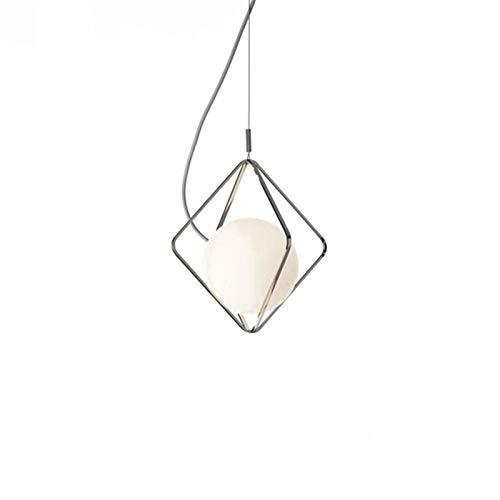 MGWA Lámpara de techo para restaurante, lámpara nórdica, lámpara de mesa, lámpara de mesita de noche, bar, dormitorio de niñas, personalidad creativa D26 * H20 cm (color: cromo)