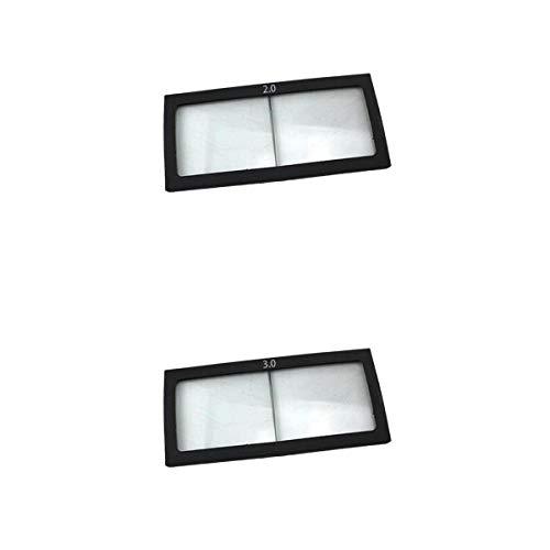 Almencla 2Pcs Vergrößerungsglas Schweißhelm Vorsatzscheiben, UV-Schutz