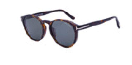 hqpaper Gafas de sol polarizadas retro con montura redonda, tendencia de moda para mujer, escamas grises de carey de flores
