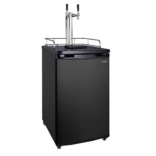 Hot Sale Kegco K199B-2 Kegerator Beer Dispenser - Double Faucet - D System - Black Door