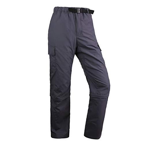VRTUR Hommes Zip Off Convertible Pantalon de randonnée à séchage Rapide Respirant Léger Pantalon de randonnée décontracté d'extérieur Amovible Short