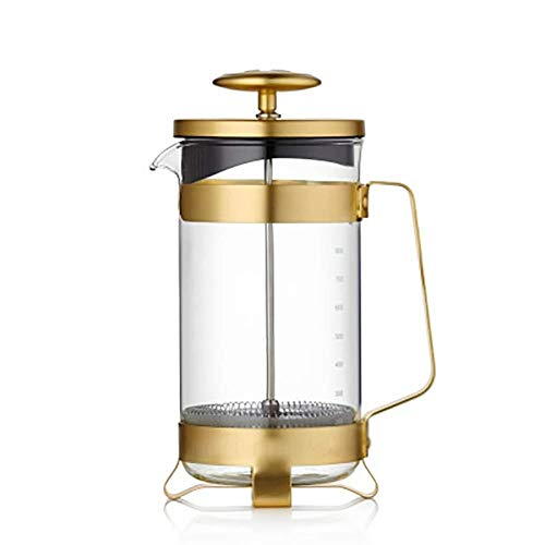 Find Bargain XXDMZ French Press Coffee Maker -Stainless Steel + Borosilicate French Presses Coffee P...
