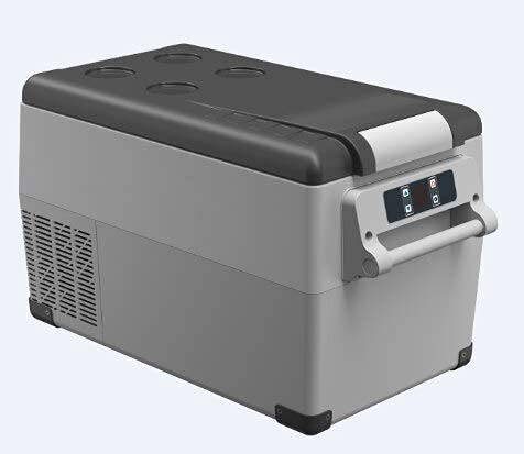 Paneles solares a prueba de agua, 35/45 / 55LiterAC / DC12 / 24V Compresor Portátil Camping Picnic RV Coche Auto Refrigerador Mini nevera Congelador profundo Enfriador Caja de viaje (Nombre del color: