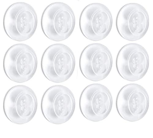 Queta 12 Piezas Tope de Puerta, Reutilizable Topes Puerta, Autoadhesivo Transparente Tope, Topes de Silicona, para Muebles Antideslizante/Reducción de Ruido/Anticolisión/Protección de Paredes