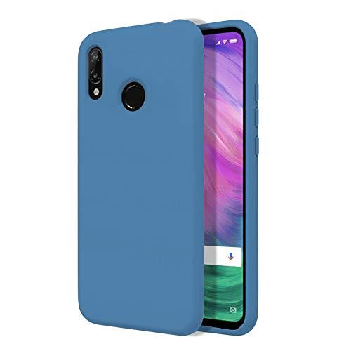 TBOC Hülle für Xiaomi Redmi S2 [5.99 Zoll]- Starre Hülle [Blau] Premium Flüssig Silikon [Soft Touch] Mikrofaser Innenfutter [Schützt die Kamera] rutschfest Widerstandsfähige Schmutz Kratzer